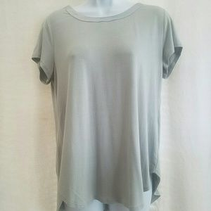 33860fe2 Alfani Tops - Alfani Satin-Trim High-Low T-Shirt,